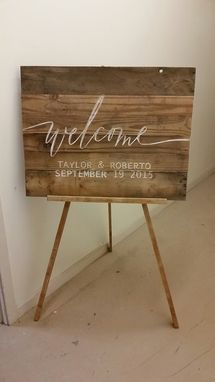Custom Made Welcome Sign For Your Wedding Day