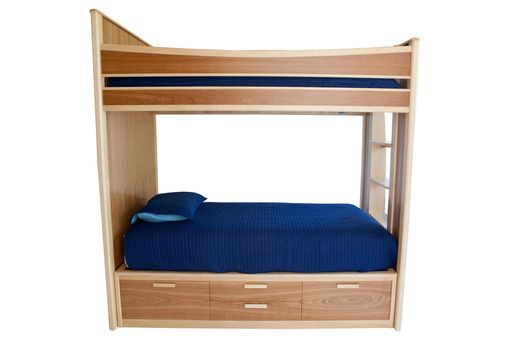 Custom Made Twin Over Twin Bunk With Storage Drawers