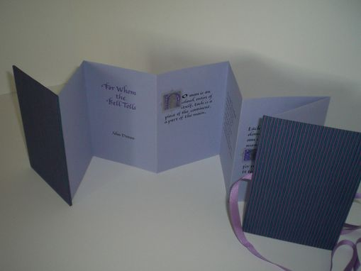 Custom Made For Whom The Bell Tolls Concertina Book