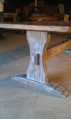 Custom Made Reclaimed Barn Wood Trestle Table