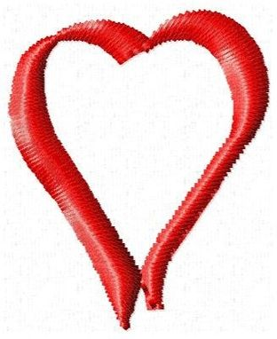 Custom Made Heart Outline Embroidery Design
