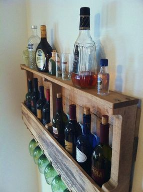 Custom Made The Great Lakes Wine Rack, Rustic Wine Rack