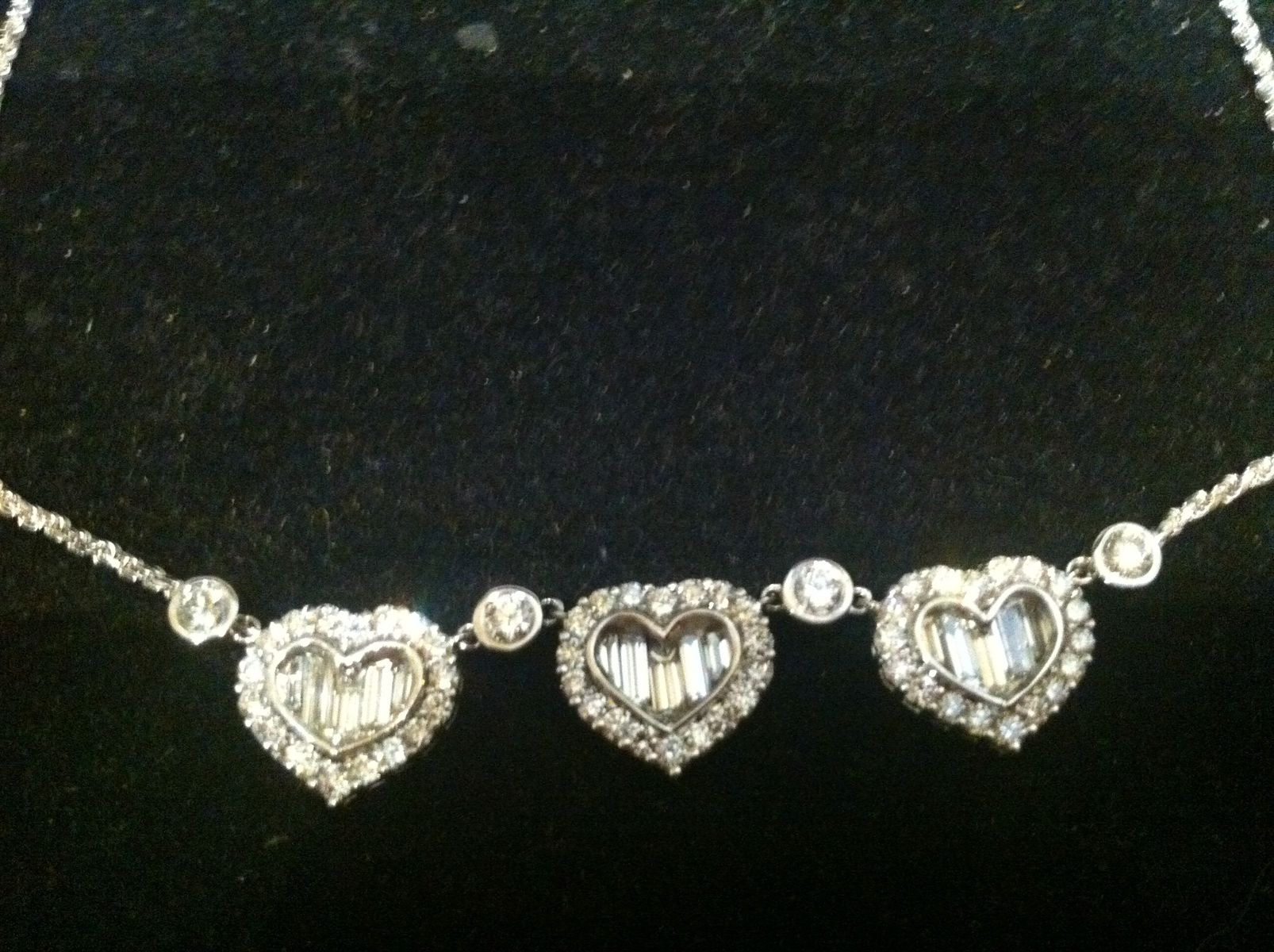 Buy a Hand Crafted Heart Shaped 14 Kt White Gold And Diamond