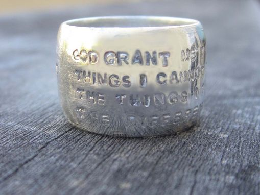 Custom Made Domed Ring With Hand Stamp