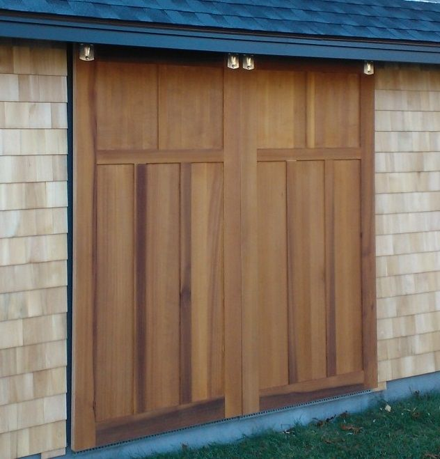 exterior barn door. custom made red cedar barn doors exterior door
