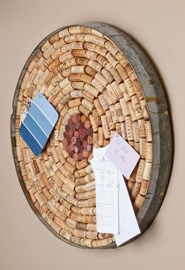 Custom Made Wine Cork Bulletin Board