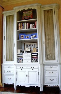 Custom Made Bookcase /  Pull Out Desk