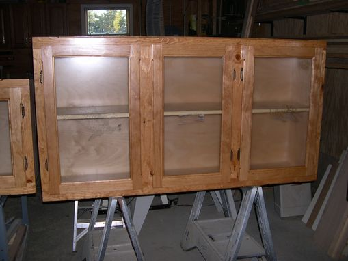 Custom Made Knotty Pine Cabinets