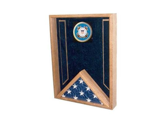 Custom Made Air Force Flag Display Case - Usaf Flag Case