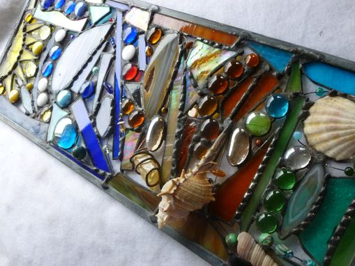 Custom Made Multicolored Stained Glass Mixed Media