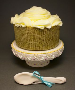 Custom Made Violet & Yellow Cupcake Stand // Single Cupcake {Larkspur Lace}