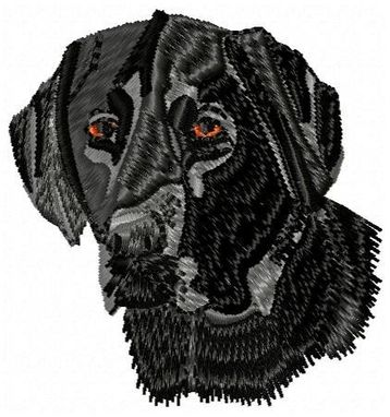 Custom Made Black Lab Embroidery Design