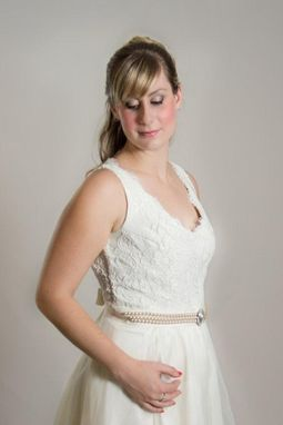Custom Made Orchid Lace Short Wedding Dress