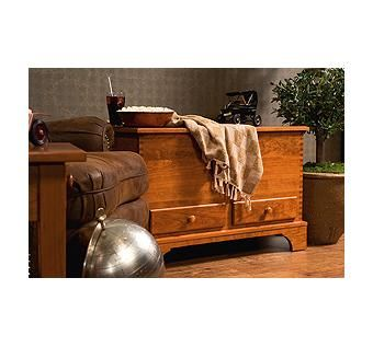 Custom Made Cherry Deep Storage Blanket Chest