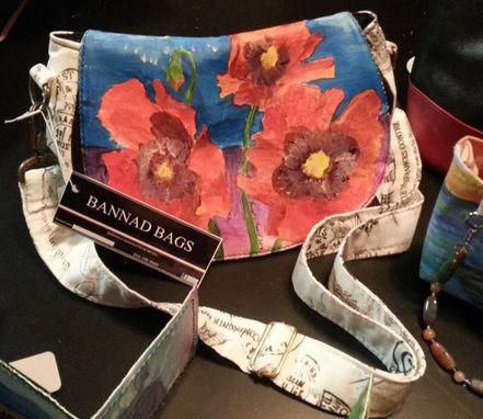 Custom Made Crossbody, Satchel, Fine Art Handbag Featuring Original Acrylic Poppy Art