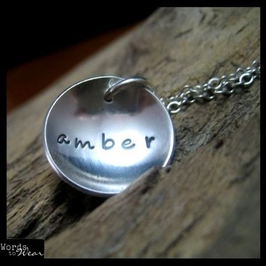Custom Made The Classic Dish Custom Hand Stamped Sterling Name Necklace