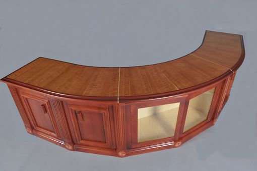 Custom Made Curved Cherry Sofa Table