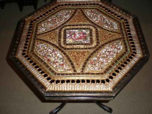 Custom Made Octagonal Mosaic Table #2