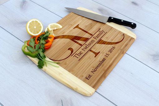 Custom Made Personalized Cutting Board, Engraved Cutting Board, Custom Wedding Gift – Cb-Bam-Nelson