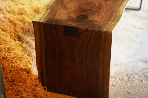 Custom Made Live Edge Walnut Coffee Table Dovetail And Steel Leg System