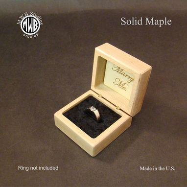 Custom Made Ring Box, Rainbow Heart Rb-141