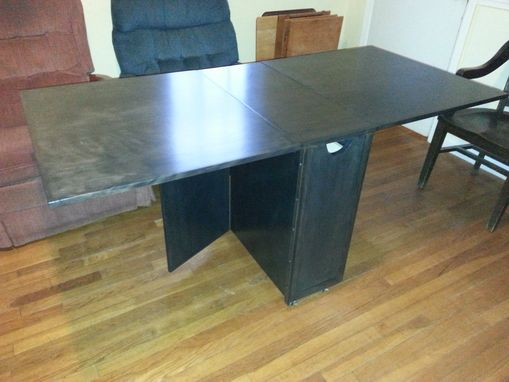 Custom Made Custom Folding Table With Storage And Wheels
