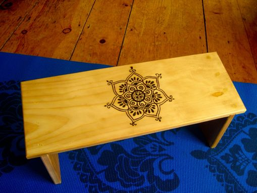 Custom Made Tribal Lotus Meditation Bench