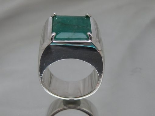 Custom Made Semi Mount  Silver Ring For Men