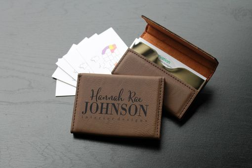 Custom Made Custom Business Card Holder --Bch-Db-Hannah Rae Johnson