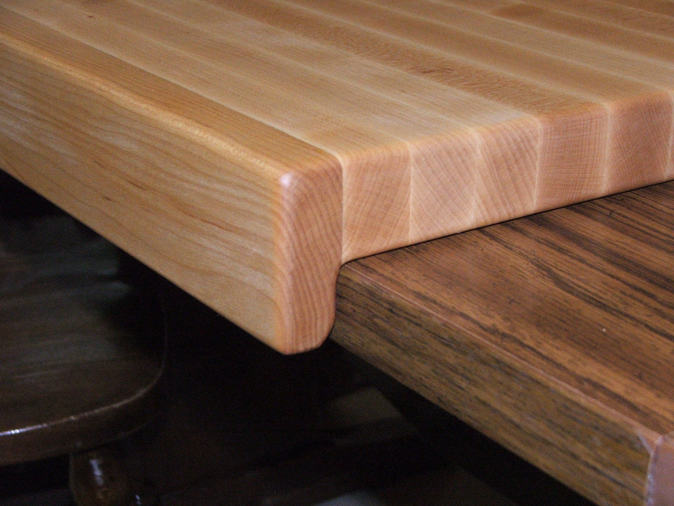 A Custom Made Solid Hard Maple Cutting Board With Counter Top Lip Over 24 To Order From Millstream Creations Custommade