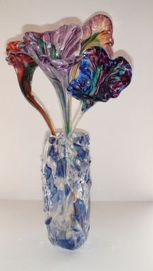 "Custom Made Vase With Flowers ""Tipot"""