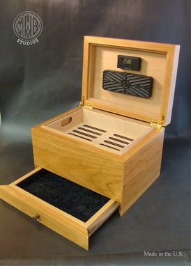 Custom Made Solid Cherry Humidor With 100 Cigar Capacity.