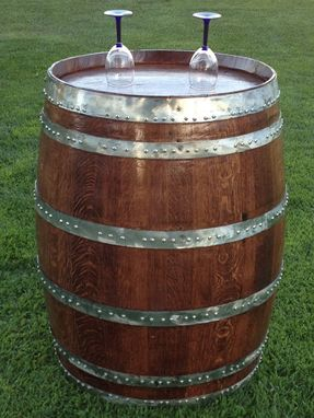 Custom Made Wine Barrel Wine Rack