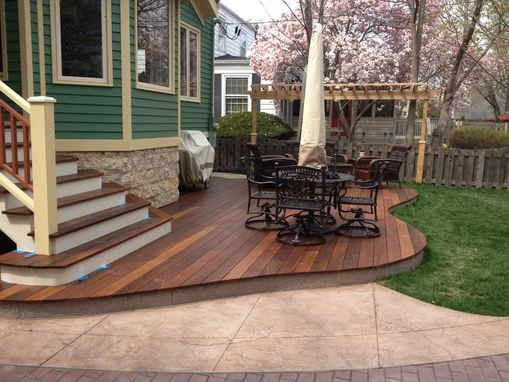 Custom Made Custom Hand Made Ipe Wood Deck