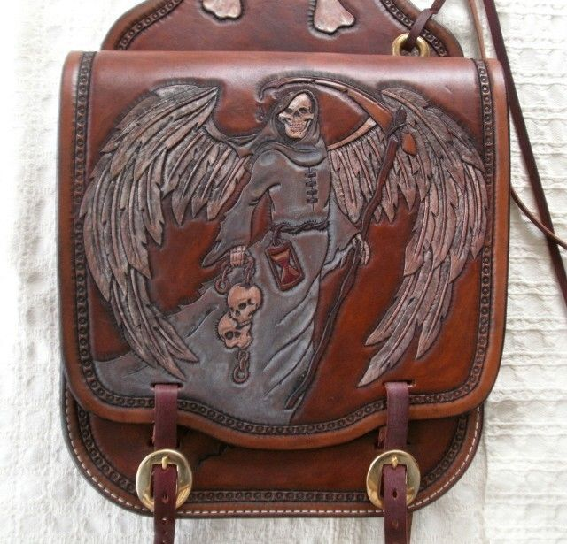 Custom Made Leather Motorcycle Saddle Bags