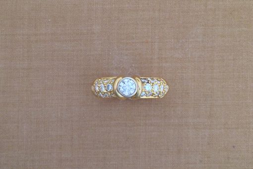 Custom Made 0.30 Ct. Round Center Diamond Gold Ring - Engagement Or Wedding Ring - April Birthstone