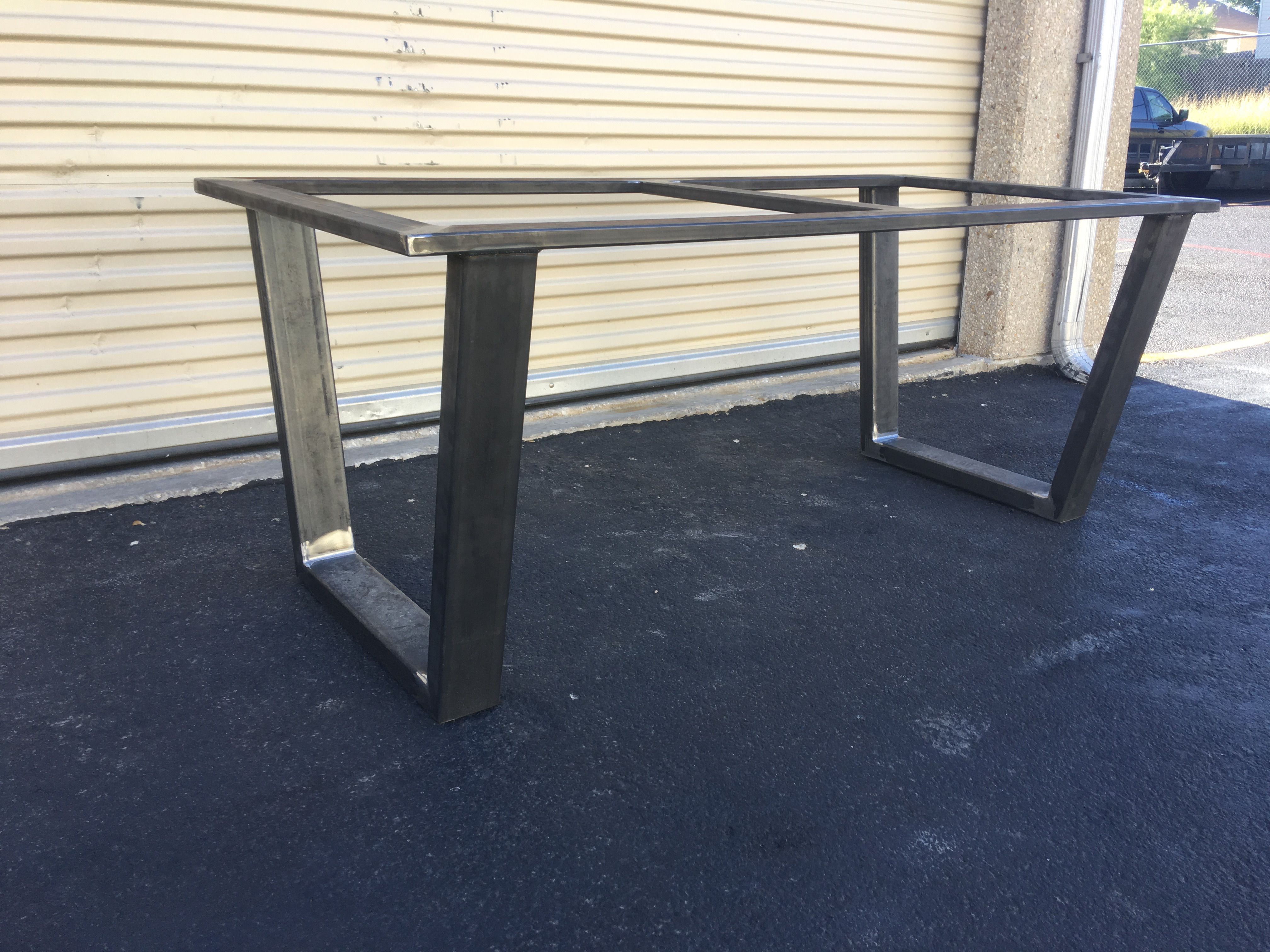 Surprising Buy A Custom Steel Table Base Made To Order From Steel Download Free Architecture Designs Rallybritishbridgeorg