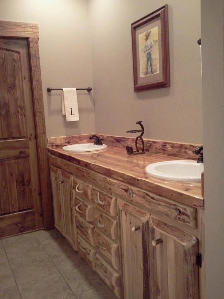 Custom Rustic Cedar Bathroom Vanity By King Of The Forest Furniture Custommade