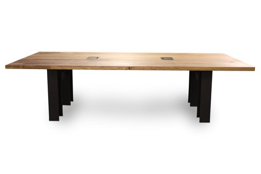 Custom Made Conference Table With I Beam Base