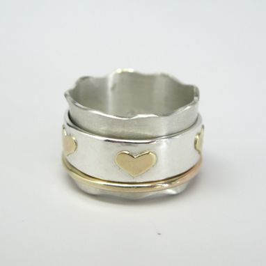 Custom Made Hearts Spinner Ring