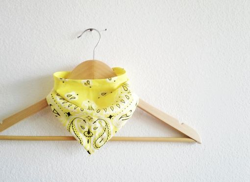 Custom Made Classic Bandana Bib For Baby In Bright Yellow