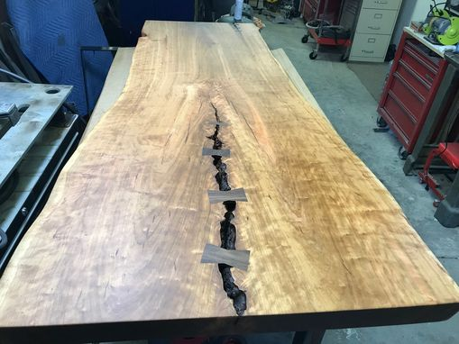Custom Made Figured Cherry Butterfly Dining Table