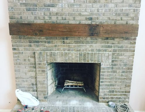 Custom Made Box Beam Mantel