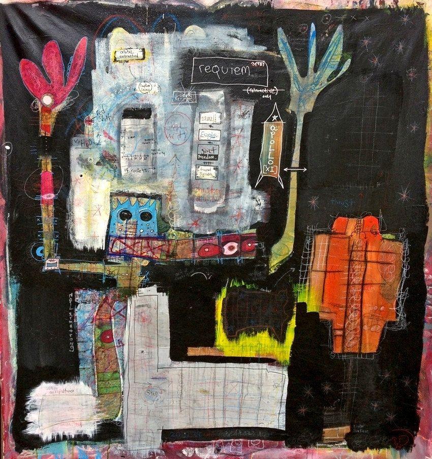 Abstract Paint Marker Art
