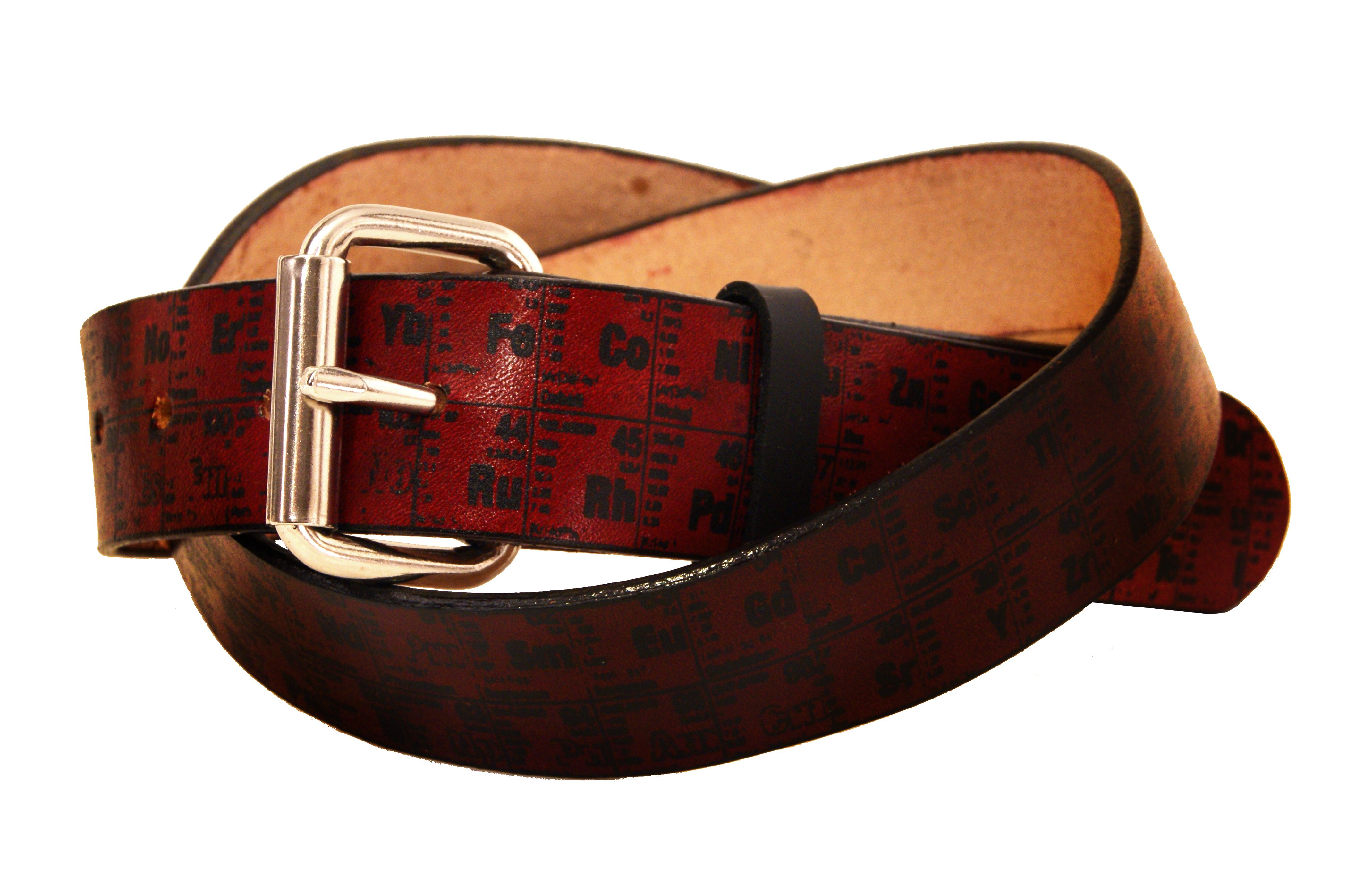 Buy a hand crafted periodic table of elements leather belt made custom made periodic table of elements leather belt gamestrikefo Gallery