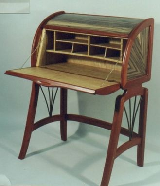 "Custom Made ""Molimba"" Drop Leaf Desk"
