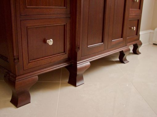 Custom Made Sapele Bathroom Vanity