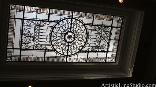 Custom Made Stained And Leaded Flat Skylight