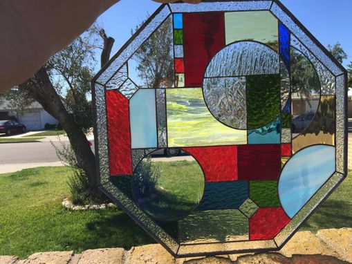 Custom Made Mission Prairie Abstract Stained Glass Window