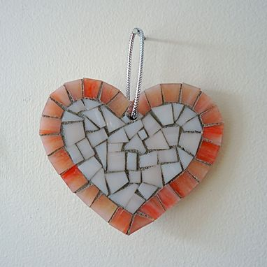 Custom Made Pink Heart Mosaic Ornament